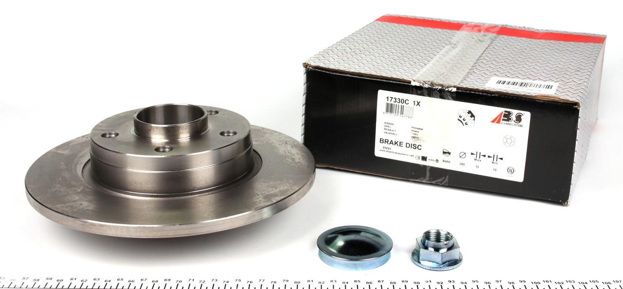 Диск тормозной задний Renault Trafic 01- (с подшипником)