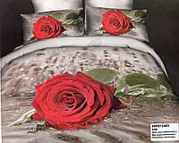 Постельное 3D С розами евроразмера