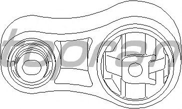Подушка двигателя на Renault Trafic  2001->  1,9dCi  (вверху, восьмёрка) — Topran  (Германия) - HP207757
