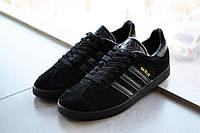 Мужские кроссовки Adidas Gazelle D1258 черные