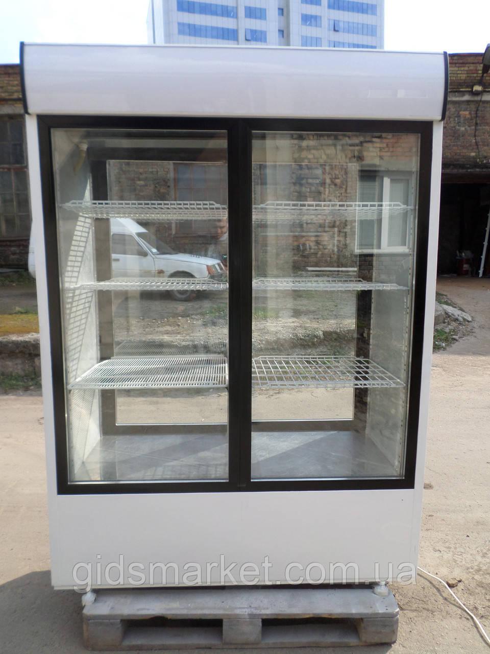 Шкаф-витрина холодильная COLD- SW 1400 бу, холодильный шкаф-купе  б/у