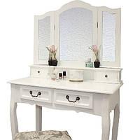 Туалетный столик с 3-ма зеркалами и пуфом