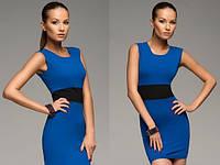 Трикотажное мини платье