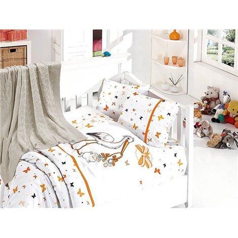 Детское постельное белье c вязаным покрывалом First Choice Nirvana Baby Stork Oranj