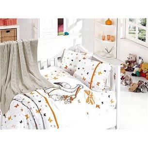Детское постельное белье c вязаным покрывалом First Choice Nirvana Baby Stork Oranj, фото 2