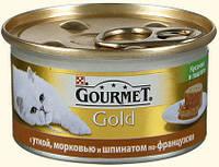 Gourmet Gold (Гурмет Голд) кусочки в паштете с уткой, морковью и шпинатом