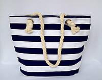 Пляжная текстильная сумка для детей и подростков Полоска синяя