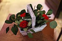 """Эко-корзинки из стабилизированных роз и растений """"Artis Green"""""""