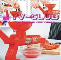 Ручная машинка для измельчения томатов, фруктов, овощей и ягод Tomato Juicer