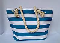 Пляжная текстильная сумка для детей и подростков Полоска голубая