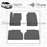 Комплект резиновых ковриков Stingray для автомобиля  Ford Focus C-Max 2011-     4шт.