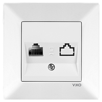 Розетка компьютерная Viko Meridian белая