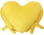 "Подушка-обнимашка в форме ""Сердце"", желтая, фото 2"