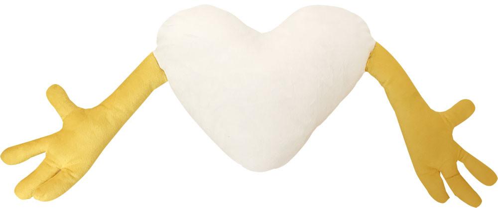 "Подушка-обнимашка в форме ""Сердце"", желтая"