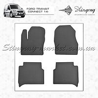 Комплект резиновых ковриков Stingray для автомобиля  Ford Transit Connect 2003-     4шт.