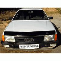 VipTuning Audi 100 C3/44 '82-91 Дефлектор капота мухобойка