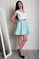 Нарядное коктейльное платье с коротким рукавом и пышной юбкой