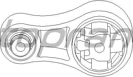Подушка двигателя на Renault Trafic  2001->  1.9dCi (внизу, восьмёрка)  —  Topran  (Германия) - HP207 759