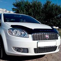 VipTuning Fiat Linea '07- Дефлектор капота мухобойка