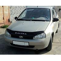 VipTuning Lada Kalina I '04- Дефлектор капота мухобойка