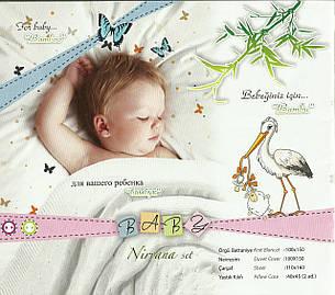 Детское постельное белье c вязаным покрывалом First Choice Nirvana Baby Ginny Mavi, фото 2