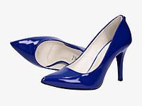Синие (Сапфировые) женские кожаные туфли от LEWSKI 40 размер