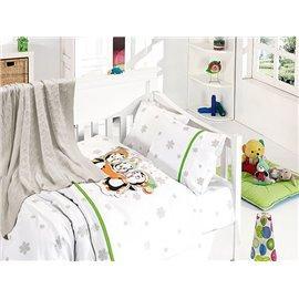 Детское постельное белье c вязаным покрывалом First Choice Nirvana Baby Penguins Yesil