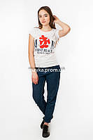 Женская футболка с принтом Микки цвет белый p.44-46 Gusse 1145 SS15-1