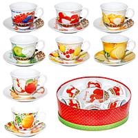 Сервиз чайный 12 предметов Фрукты SNT 151-04