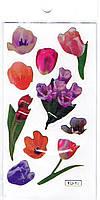 Серия-1, цветы с золотым краем