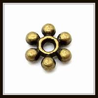 Спейсер, рондель метал., бронза (диам. 0,6 см) 60 шт в уп.