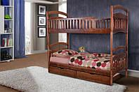 Кровать МИКС-Мебель Кира двухъярусная 80*200 тёмный орех