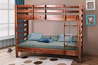 Кровать МИКС-Мебель Троя двухярусная 80*200 тёмный орех