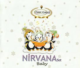Детское постельное белье c вязаным покрывалом First Choice Nirvana Baby Penguins Mavi, фото 2