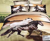 Постельное белье сатин 3D с Лошадьми