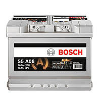Автомобильный аккумулятор BOSCH AGM (S5A08) 70Ач