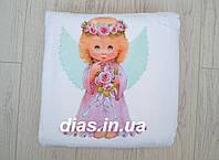 Крыжма для крещения с ангелочком для девочки