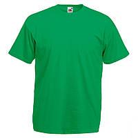 Футболка мужская однотонная зеленая турецкий трикотаж