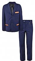 Школьный костюм пиджак и брюки для мальчика 4441