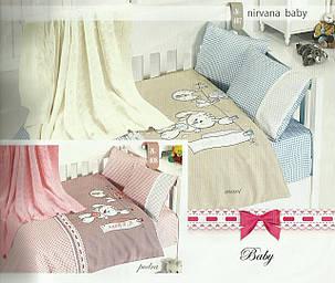 Детское постельное белье c вязаным покрывалом First Choice Nirvana Baby Pudra, фото 2