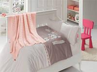 Детское постельное белье c вязаным покрывалом First Choice Nirvana Baby Pudra