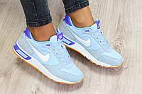 Женские голубые кроссовки Nike