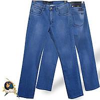 Мужские качественные джинсы классического покроя JRS голубого цвета.