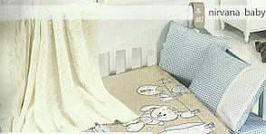 Детское постельное белье c вязаным покрывалом First Choice Nirvana Baby Mavi, фото 2