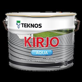 Матовая антикоррозионная краска для листовой кровли Teknos Kirjo Aqua 9 л