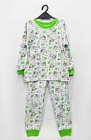 Трикотажная пижама Зеленая (большие размеры), кулир