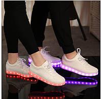Кроссовки LED светящиеся с подзарядкой