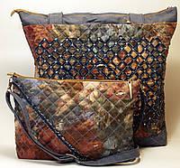 Джинсовая сумочка шоппер Нежность комплект