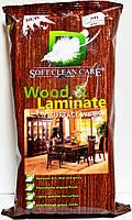 Влажные салфетки для уборки мебели, дерева, и ламината Soft Clean Care Wood & Laminate 72 шт