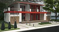 Двухэтажный каркасный дом из соломы